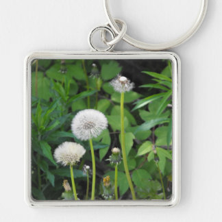 Vertical template Silver-Colored square key ring