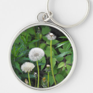 Vertical templates Silver-Colored round key ring