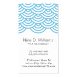 Vertical trendy light blue Japanese wave pattern Pack Of Standard Business Cards