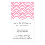 Vertical trendy pink Japanese wave pattern Pack Of Standard Business Cards