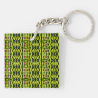 Vertical tribal pattern key ring