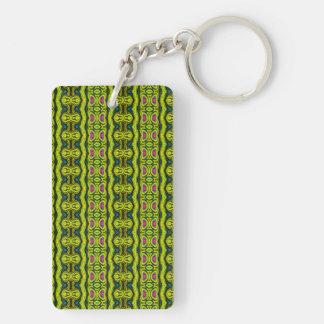 Vertical tribal pattern acrylic keychain
