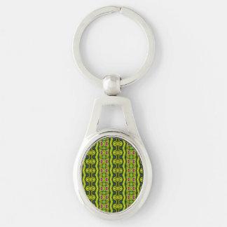 Vertical tribal pattern keychain