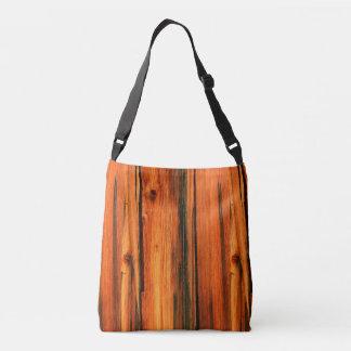 vertical weathered barn boards crossbody bag