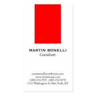Vertical White Red Stripe Standard Business Card