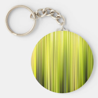Vertical Yellow And Green Movement Lines Basic Round Button Key Ring