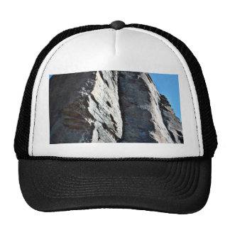 Vertically Seamed And Fractured Rocks Mesh Hats
