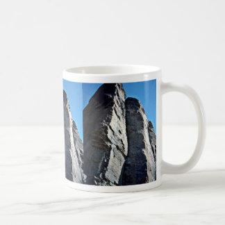Vertically Seamed And Fractured Rocks Mug