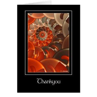 Vertigo Thankyou Greeting Card
