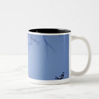 Vervet monkey on tree branch , Serengeti Two-Tone Coffee Mug