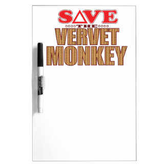 Vervet Monkey Save Dry Erase Board