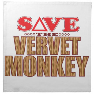 Vervet Monkey Save Napkin