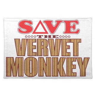 Vervet Monkey Save Placemat