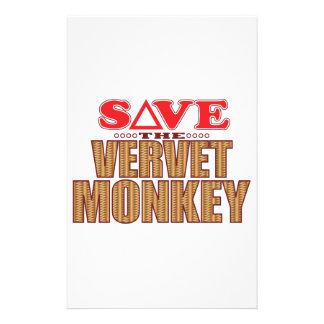 Vervet Monkey Save Stationery