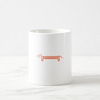 Verwandlungstasse mit Dackelmotiv Tasse