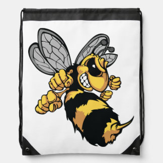 Very Angry Bee Drawstring Backpack