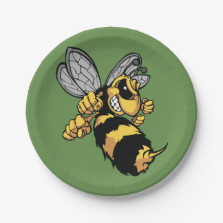 Very Angry Bee Paper Plates