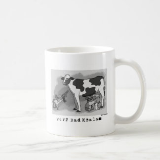 Very Bad Koalas Avery and Irving with cow mug