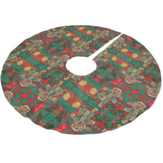 Very Beary Christmas Teddy Brushed Polyester Tree Skirt