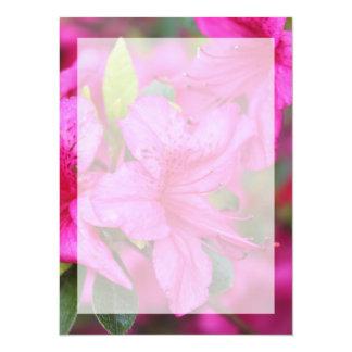 Very beautiful spring, summer pink azalea flower. custom announcements