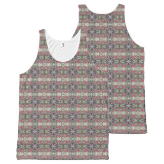 Very Berry Holly Christmas Design Tank Top 2