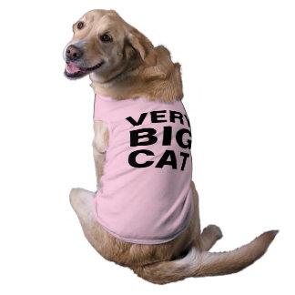 very big cat sleeveless dog shirt