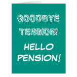 Very big oversized retirement card with cute quote