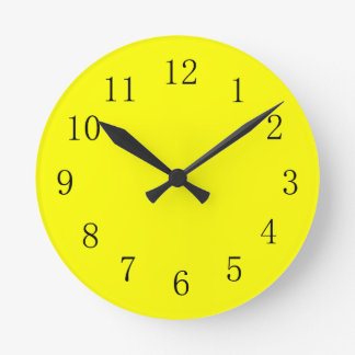 Very Bright Yellow Kitchen Wall Clock