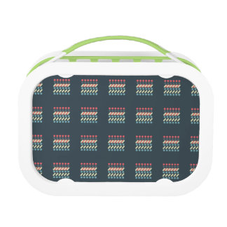 Very British graphic train and bus seat patterns Lunch Box