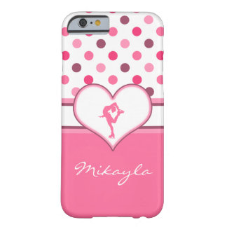Very Cherry Polka-Dots Lots of Pink Figure Skater Barely There iPhone 6 Case