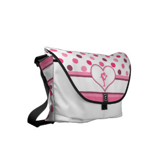Very Cherry Polka-Dots Lots of Pink Figure Skater Courier Bags
