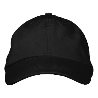 ♥ Very Classy ♥ Plain Basic Black Hat ♥ Embroidered Hat