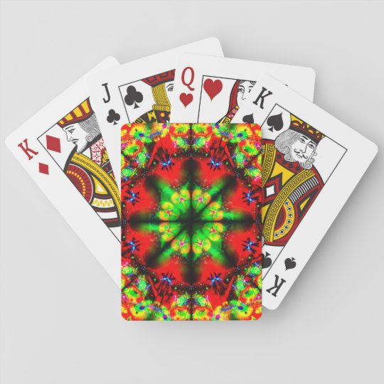 Very Colourful Illusion Mandala Playing Cards