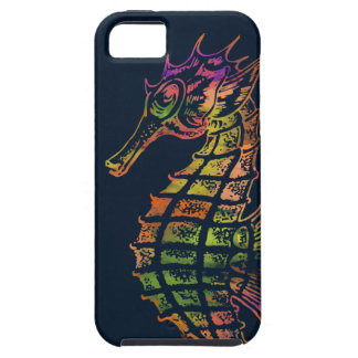 Very colourful seahorse art iPhone 5 cases