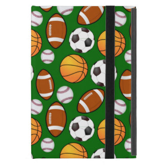 Very Cool and Special Sports Theme On turf Green iPad Mini Covers
