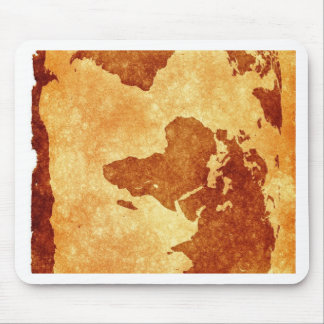 Very cool antique world map mouse pad