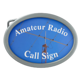 Very Cool Beam Antenna and Call Sign Belt Buckle