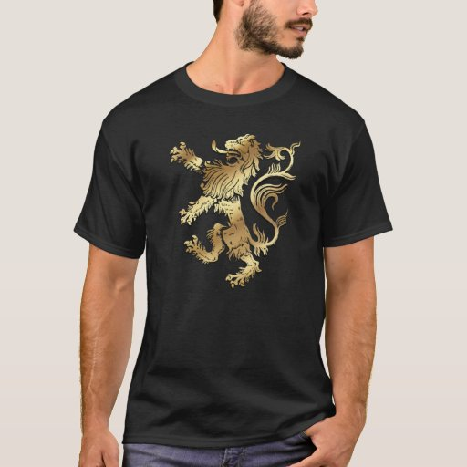 Very cool coat of arms style lion emblem crest T-shirt