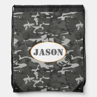 Very Cool Military Style Urban Camo With name tag Rucksack