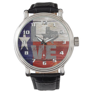 Very Cool Rustic Texas Flag Patriotic Love Texas Watch