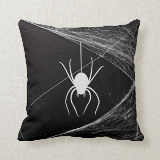 Very Cool Spider on Web Throw Pillow