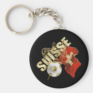 Very Cool Suisse artwork soccer football design Key Ring