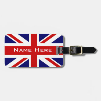 Very Cool U.k Flag The Union Jack With Monogram Luggage Tag