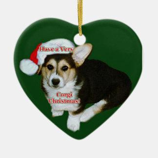 Very Corgi Christmas - Gimli Pup Heart Ornament