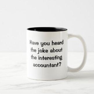 Very Cruel and Funny Accountant Joke Two-Tone Coffee Mug