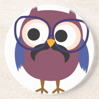 Very Cute Geek Owl Wearing Glasses Coaster