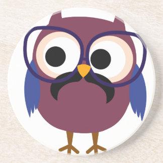 Very Cute Geek Owl Wearing Glasses Coasters