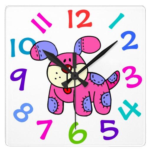 Very Cute Puppy Dog Childrenu0026#39;s Room Wall Clock : Zazzle