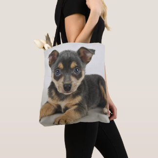 Very Cute Puppy With Loving Eyes Tote Bag
