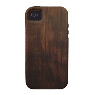 Very Dark Wood Grain Case For The iPhone 4